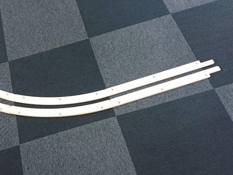 樹脂(プラスチック)レール 切削加工