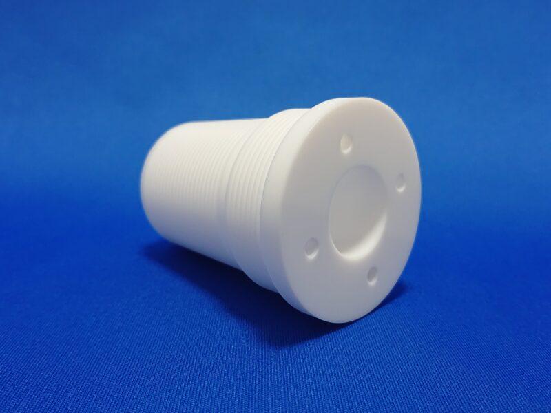 テフロン(PTFE)製 特殊ネジ 切削加工品
